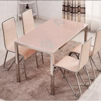 Buy cheap Multi Functional Glass Top Dining Room Table , Practical Marble Dining Table product