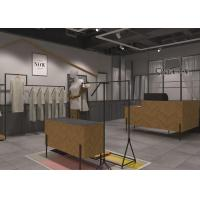 Shopping Mall Garments Shop Display Fixtures With Hanging Rack And Shelf