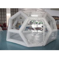 Buy cheap Outdoor Portable 4m Air Sealed Clear Transparent PVC Inflatable Soccer Bubble Camping Tent product