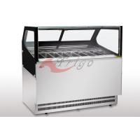 Buy cheap R290 Available Square Gelato Display Case 2 Layers LED Light Fast Cooling product