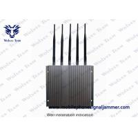 Quality Remote Controlled Cell Phone GPS Jammer Stable Jamming Range Up To 40m for sale