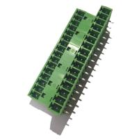 Quality 3.81 Pluggable Terminal Block , Male 3 * 16P Straight Right Angle Terminal Connector for sale
