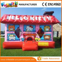 Buy cheap PVC Hello Kitty Party Commercial Jumping Castle / Inflatable House For School from wholesalers