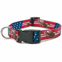 Buy cheap All Seasons Polyester Dog Collar Buckle Type Customized American Flag Design product