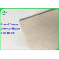 China 1.5mm 2mm 2.5mm Laminated Chip Board Grey Cardboard with Round Corner for Puzzle on sale