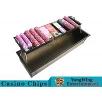 Buy cheap 2 - Layer Bronze Metal Casino Chip Tray Thick Solid With Security Protection Lock from wholesalers