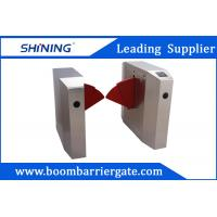 China RIFD Reader Semi-Automatic Flap Barrier Gate With Emergency Evacuation Function on sale