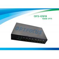Buy cheap 8 Port 12 Gbe SFP Fiber Optic Ethernet Switch 100 BASE - Fx DC5V 1A Power supply product