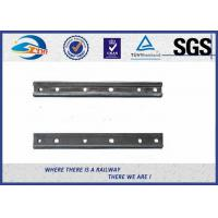 Buy cheap Plain Surface 6 Holes Rail Joint Bar Railroad Fish Plate For UIC60 UIC54 Steel Rail product