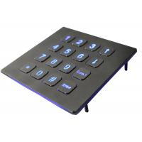 Buy cheap IP67 Numeric Keypad Top Panel Mount Backlit USB  Red Or Blue 16 Keys product