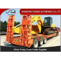3 axles 12 tires low bed trailer, 50 ton capacity Mechanical suspension