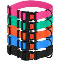 Buy cheap Adjustable Colorful Waterproof Dog Collars Durable Nylon Webbing Easy To Wash product
