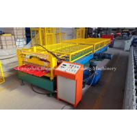 Buy cheap 1.0mm Thickness Popular Profile Roofing Roll Forming Machine with Safe Cover product