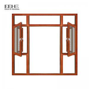 Buy cheap Wooden Color Fixed Aluminum Casement Windows For Construction Buildings product