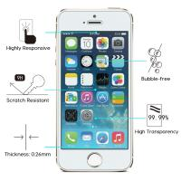 Buy cheap 9H Hardness IPhone Tempered Glass Screen Protector Anti Scratch HD Retina Clarity product