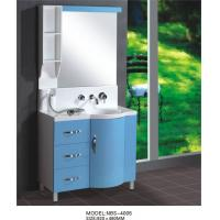 Buy cheap Light blue round Type Hanging Bathroom vanity double sink 92 X 48 / cm artificial stone Basin product
