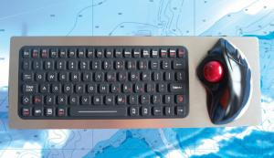 Buy cheap Marine Industrial Keyboard With Ergonomic Trackball Backlit Panel Mounting product