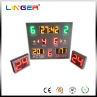 Buy cheap 12'' Red Wireless Control Baseketball Digital LED Digital Clock With Waterproof Cabinet from wholesalers