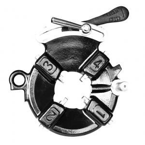 Ductile Cast Iron Electric Pipe Threading Machine Universal Die Head Hongli 422