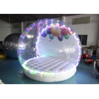 Buy cheap Human Size Hotel Inflatable Snow Globe Tent Christmas LED Lighting product