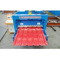 Buy cheap Hydraulic Cr12 Cutting Blades Roofing Step Tile Roll Forming Machine With PLC Control product