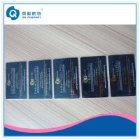 China Gold Plastic Business Card Printing Hot Stamping Foil PVC Business Cards on sale