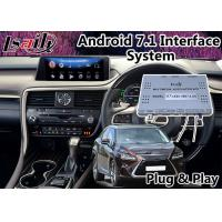 Buy cheap Android 7.1 Auto Interface , GPS Navigation System for Lexus RX 450h 12.3 Inch , 2015-2018 Mouse Control product
