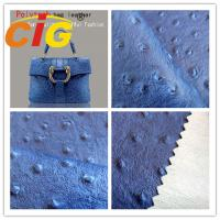Buy cheap Ostrich Embossed Polyurethane Leather Popular Customized Bags Artificial Leather Material product