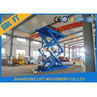 Buy cheap 5T 5M Hydraulic Scissor Car Lift / Automotive Vehicle Lifts For Home Garage product