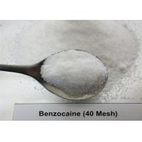 Buy cheap 99.97% USP36 Local Anesthetic Benzocaine Powder 40 Mesh / 200 Mesh White Color product