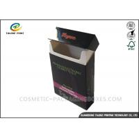 Fancy Paper Cigarette Packaging Box Full Color Printing Consistent Clarity With Lid