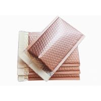 Buy cheap Rose Gold Metallic Bubble Envelopes , 6 X 9 Metallic Foil Bubble Mailers Self Seal product