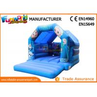 Buy cheap Amusement Park Inflatable Bouncer Slide / Frozen Inflatable Bounce House from wholesalers