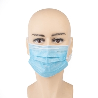 Buy cheap anti vrus Blue 95% Breathable 3 Ply Disposable Face Mask product