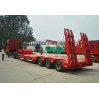 Buy cheap Low Bed Heavy Duty Semi Trailers , 3 Axle Semi Trailer 50 To/ 60 To / 70 ton product