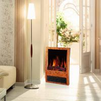 Quality log burning LED flame effect electric fireplace heater stoves NDY-20D portable wooden finish climat room/indoor heater for sale