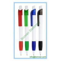 China blank printed retractable plastic ball pen, nice plastic promotional pen on sale