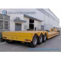 China 18 m Tri axle Separable Low Flatbed Semi Trailer Load Capacity 50 T 60 T on sale