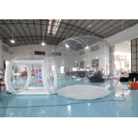 Buy cheap 4mDia Transparent Clear Inflatable Dome Bubble Camping Tent With Airtight Tunnel product