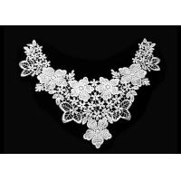 Buy cheap Floral Flower Crochet Lace Collar For White Lace Top / Crochet Lace Top Women product