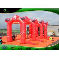 Buy cheap PVC Inflatable Arches With UV Printing , Red Inflatable Advertising Arch Decoration product