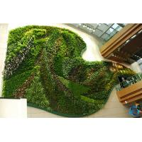 China Multi Color Artificial Plant Wall Panels Manual Crafts For Backdrop Decoration on sale