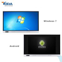 Buy cheap 65'' Lcd Display Touch Screen Dual System Wall Mount Interactive Whiteboard 350cd/m2 product