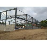 Buy cheap SGS Light Steel Structure Building With Sandwich Panel / Prefab Metal Buildings product