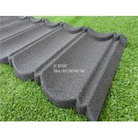 Buy cheap Fireproof Stone Chips Coated Step Metal Roof Tile , Aluminium Zinc Roofing Tile Color Roof product