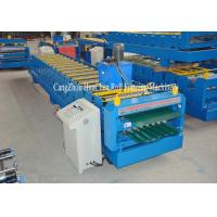 Buy cheap PLC Control Automatic Steel Double Layer Roll Forming Machine High Efficiency product