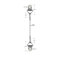 Buy cheap Single Leg Ring Type Steel Wire Rope For Picture Hanging YW86530 product