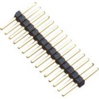 Buy cheap 1.0mm 1*15P DIP PA9T Black Single Pin Header Connector Pe Bag For PCB Board product