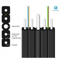 Buy cheap 1 Fiber Singlemode 9/125 OS2, Metal Strength Member, LSZH Self-supporting FTTH Drop Cable GJYXCH product