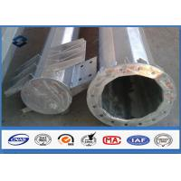 110kv Galvanized Electrical Steel Tubular Pole Self Supporting With Electric Accessories